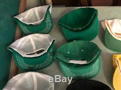 14 Vintage Snapback Trucker Hat Cap Farm JOHN DEERE Tractor Mesh