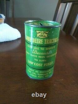 1937 John Deere 100th Anniversary Centennial Oil Can Coin Bank VERY RARE