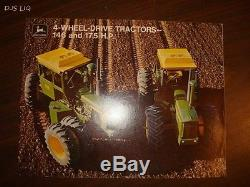 1972 John Deere 4-wheel-drive Tractor Sales Catalog Brochure Bc96a