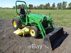1998 John Deere 955 Tractor, JD 70A Loader, 72in Belly Mower, NICE