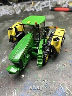 1/64 Custom John Deere 8370RT Tractor With Demco Side Tanks Farm Toy