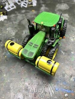 1/64 Custom John Deere 9620R Tractor With Front Saddle Tanks Farm Toy