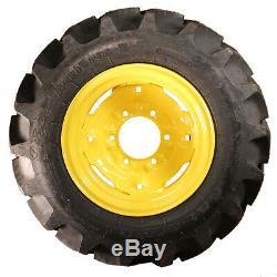 1 New Galaxy Agri Trac 7-14 Ag Lug Tires & John Deere Compact Tractor Wheel Rim