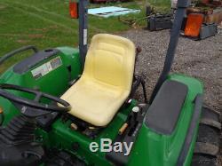 2000 John Deere 4700 Tractor, 4WD, Hydro, JD460 Loader, 72in Belly Mower, 765Hrs