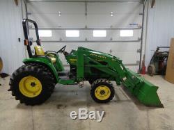 2001 John Deere 4300 Tractor, 4WD, JD420 Loader, Hydro, R4 32HP, 508 Hours