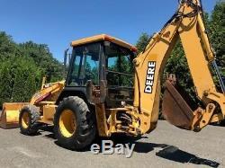 2002 John Deere 310SE Backhoe Loader Tractor 4x4 Cab Diesel Extend-a-Hoe 310