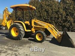 2003 John Deere 110 Backhoe Loader Diesel 4x4 Tractor Back-hoe