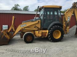 2003 John Deere 310G 4x4 Tractor Loader Backhoe Cab Extend-A-Hoe County Machine