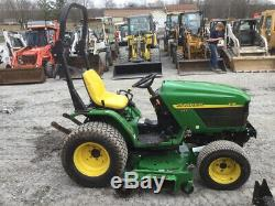 2004 John Deere 4110 4x4 Diesel Hydro Compact Tractor with Mower & Front Blade