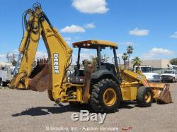 2004 John Deere 710G 4x4 Backhoe Wheel Loader Tractor Diesel Aux Hyd bidadoo