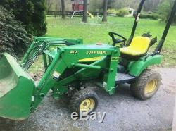 2006 John Deere 2210 4x4 Hydro Compact Tractor with Loader Only 800 Hours