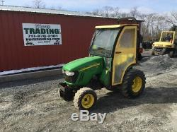 2012 John Deere 2320 4x4 Hydro Compact Tractor with Cab Only 700 Hours