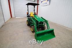2015 John Deere 1025r Hst Diesel Tractor Loader 4wd, John Deere D120 Loader