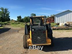 2015 John Deere 323E Rubber Track Skid Steer Crawler Loader Tractor Skidsteer
