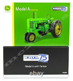 2020 ERTL 132 JOHN DEERE GOLD Model A Tractor withMan 75th Anniversary NIB
