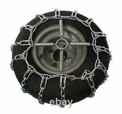 2 Link TIRE CHAINS & TENSIONERS 23x10.5x12 for John Deere Mower Tractor Rider