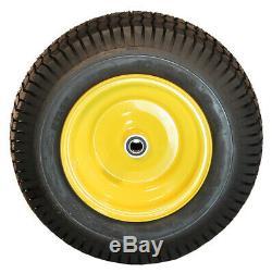 2 New 16x6.50-8 ATW Turf Tire on John Deere 145 155C 190C Lawn Tractor Wheel