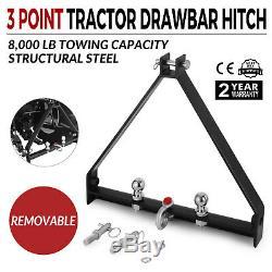 3 Point BX Trailer Hitch Compact Tractor Universal John Deere Drawbar