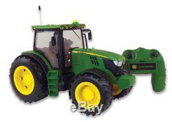 42838 Britains Big Farm 6190R Tractor Radio Remote Controlled John Deere Age 3+
