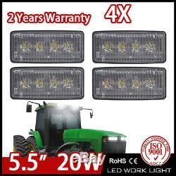 4PCS 20W LED Headlight LED Work Light For John Deere Tractor 7000 8000