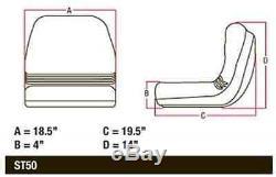 AM123666 Seat for John Deere Lawn Garden Tractor F510 240 325 335 345 415 425