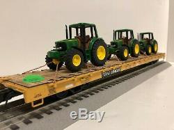 Atlas Trainman 68 foot bulkhead custom John Deere 6420 4x4 Farm Tractors Athearn
