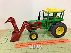 Custom 1/16 scale John Deere 4020 diesel tractor & Westendorf loader, FREE ship