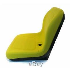 Deluxe Heavy Duty John Deere Compact Tractor Mower Seat Vinyl Yellow