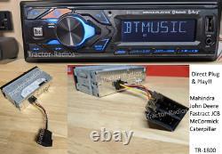 Direct Plug & Play Bluetooth Tractor Radio Mahindra John Deere JCB McCormick Cat
