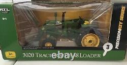 ERTL Precision Key #3 John Deere 3020 Tractor with48 Loader 1/16 NIB