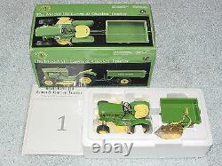 Ertl 1/16 John Deere Model 110 Precision #1 Lawn & Garden Tractor W Cart Nib