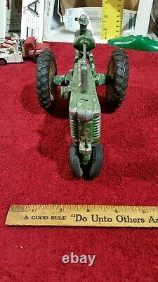 Ertl Arcade John Deere tractor toy OPEN FLYWHEEL farm implement 1/16