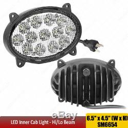 For John Deere 7020-9030 Series Tractors 65W LED Oval Headlight Hi/Lo TL8520 X1