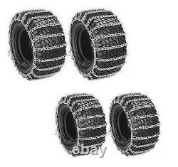Front & Rear TIRE CHAINS 2-LINK for John Deere 400 420 425 Tractor Snow Blower
