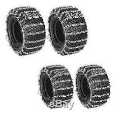 Front & Rear TIRE CHAINS John Deere F1145 1420 1435 1445 1550 1570 Mower Tractor
