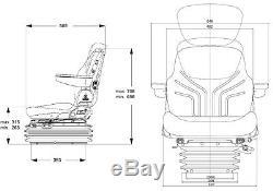Grammer Tractor Seat Fendt Deutz Case John Deere Msg 95g/721