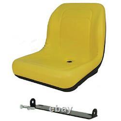 HIGH BACK SEAT with Pivot Rod Bracket Fits John Deere 445 455 G100 SST16 SST18 Yel
