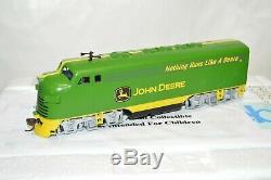 HO Hawthorne Village John Deere Tractors advertising EMD F7A locomotive train