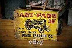 Hart Parr Appleton Wisconsin model 30 Jones Tractor Oil Sign Farm John Deere