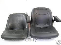 High Back Black Seat Fits 650,750,850,950, & 1050 John Deere Compact Tractor #jn