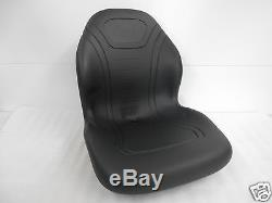 High Back Black Seat For John Deere 755, 855 & 955 Compact Tractor #dg