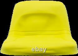 High Back John Deere Lawn Mower Garden Tractor Seat Yellow