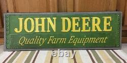 JOHN DEERE Metal Sign Farm Barn Vintage Style Industrial Tractor 30 x 9 Decor
