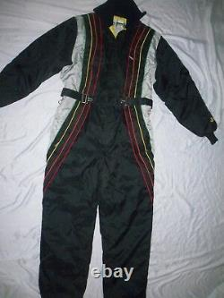 JOHN DEERE Vintage Snowmobile Tractor SNOWSUIT Insulated Coverall Women M EUC
