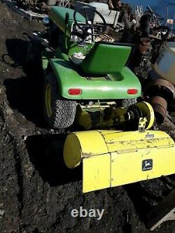 John Deere 110 Riding Lawn Tractor with Tiller