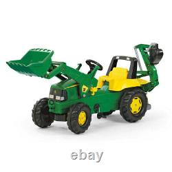 John Deere 164.5cm Ride-On Kids Tractor/Truck Toys/Play/3y+ with Loader Excavator
