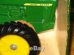 John Deere 1 Hole 7020 7520 4wd Tractor Nib Ertl Htf Rare Green Yellow Box 1970s