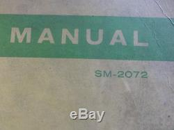 John Deere 2020 Series Tractors Service Manual SM-2072