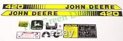 John Deere 420 Lawn and Garden Tractor Decal Set