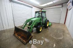 John Deere 4520 Hst Cab Tractor Loader, Ac/heat, Radio, Hst, 4x4